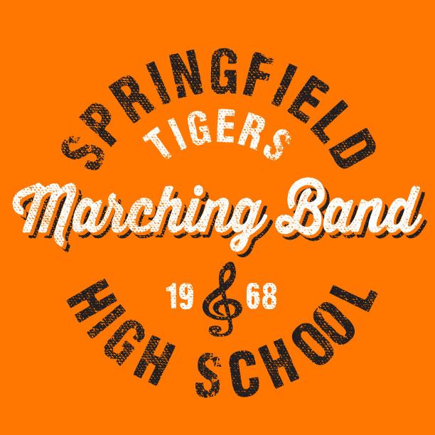 Marching Band T-Shirts by Impact School Spirit Wear - Online School